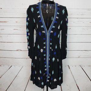 Free People Stargazer Boho Embroidered Dress
